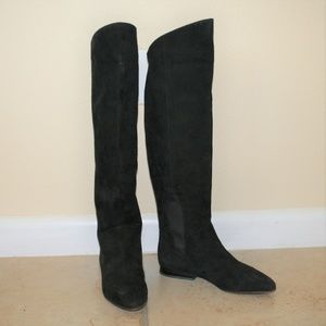 Joan & David Couture Italy Suede OTK Boots 6.5